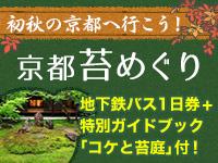 初秋の京都へ行こう苔
