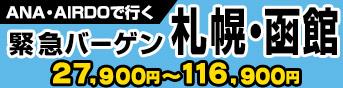 ANA・AIRDOで行く緊急バーゲン札幌・函館