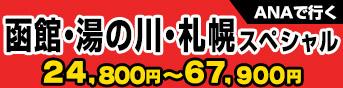 ANAで行く函館・湯の川・札幌スペシャル 23,800円〜67,900円